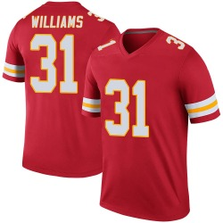 Darrel Williams Kansas City Chiefs Youth Color Rush Legend Nike Jersey - Red