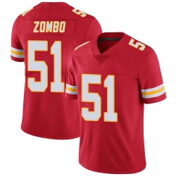 Frank Zombo Kansas City Chiefs Men's Limited Team Color Vapor Untouchable Nike Jersey - Red