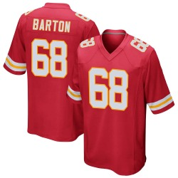 Jackson Barton Kansas City Chiefs Men's Game Team Color Nike Jersey - Red