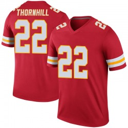 Juan Thornhill Kansas City Chiefs Youth Color Rush Legend Nike Jersey - Red