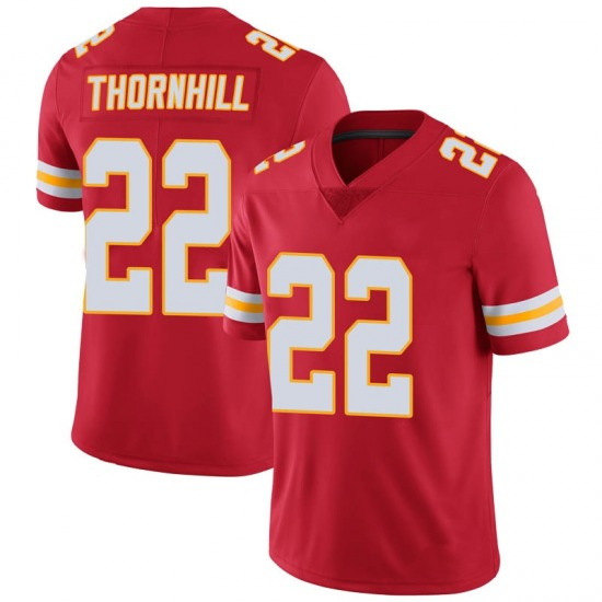Juan Thornhill Kansas City Chiefs Youth Limited 100th Vapor Nike Jersey - Red