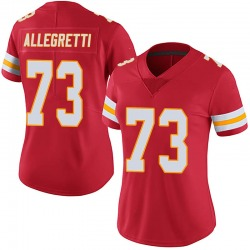 Nick Allegretti Kansas City Chiefs Women's Limited 100th Vapor Nike Jersey - Red